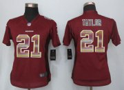 Wholesale Cheap Nike Redskins #21 Sean Taylor Burgundy Red Team Color Women's Stitched NFL Elite Strobe Jersey