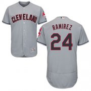 Wholesale Cheap Indians #24 Manny Ramirez Grey Flexbase Authentic Collection Stitched MLB Jersey