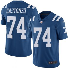 Wholesale Cheap Nike Colts #74 Anthony Castonzo Royal Blue Men\'s Stitched NFL Limited Rush Jersey