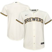 Wholesale Cheap Milwaukee Brewers Nike Youth Home 2020 MLB Team Jersey Cream