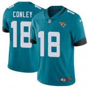 Wholesale Cheap Nike Jaguars #18 Chris Conley Teal Green Alternate Men's Stitched NFL Vapor Untouchable Limited Jersey