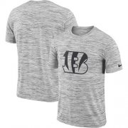 Wholesale Cheap Men's Cincinnati Bengals Nike Heathered Black Sideline Legend Velocity Travel Performance T-Shirt