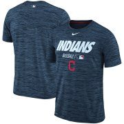 Wholesale Cheap Cleveland Indians Nike Authentic Collection Velocity Team Issue Performance T-Shirt Navy