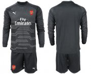 Wholesale Cheap Arsenal Blank Black Long Sleeves Goalkeeper Soccer Country Jersey