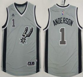 Wholesale Cheap San Antonio Spurs #1 Kyle Anderson Revolution 30 Swingman 2015 New Grey Jersey