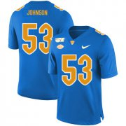 Wholesale Cheap Pittsburgh Panthers 53 Dorian Johnson Blue 150th Anniversary Patch Nike College Football Jersey