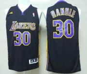 Wholesale Cheap Los Angeles Lakers #30 Julius Randle Revolution 30 Swingman Black With Purple Jersey