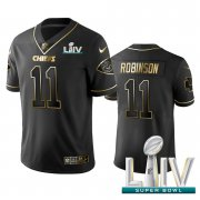 Wholesale Cheap Nike Chiefs #11 Demarcus Robinson Black Golden Super Bowl LIV 2020 Limited Edition Stitched NFL Jersey