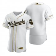 Wholesale Cheap Washington Nationals Blank White Nike Men's Authentic Golden Edition MLB Jersey