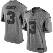 Wholesale Cheap Nike Cardinals #3 Josh Rosen Gray Men's Stitched NFL Limited Gridiron Gray Jersey