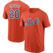 Wholesale Cheap New York Mets #20 Pete Alonso Nike Name & Number T-Shirt Orange