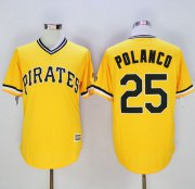 Wholesale Cheap Pirates #25 Gregory Polanco Gold New Cool Base Stitched MLB Jersey