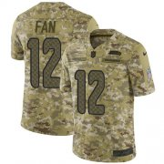 Wholesale Cheap Nike Seahawks #12 Fan Camo Youth Stitched NFL Limited 2018 Salute to Service Jersey