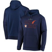 Wholesale Cheap Houston Astros Majestic 2019 World Series Bound Authentic Collection Dugout Pullover Hoodie Navy