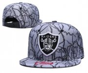 Wholesale Cheap Raiders Team Logo Gray Adjustable Hat TX