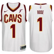 Wholesale Cheap Nike NBA Cleveland Cavaliers #1 Derrick Rose Jersey 2017-18 New Season White Jersey