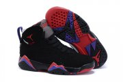 Wholesale Cheap Kids' Air Jordan 7 Retro Shoes Black/red-blue-gray
