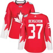 Wholesale Cheap Team Canada #37 Patrice Bergeron Red 2016 World Cup Women's Stitched NHL Jersey