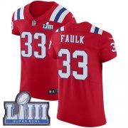 Wholesale Cheap Nike Patriots #33 Kevin Faulk Red Alternate Super Bowl LIII Bound Men's Stitched NFL Vapor Untouchable Elite Jersey
