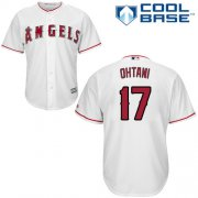 Wholesale Cheap Angels of Anaheim #17 Shohei Ohtani White New Cool Base Stitched MLB Jersey