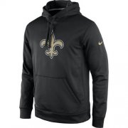Wholesale Cheap Men's New Orleans Saints Nike Black Practice Performance Pullover Hoodie