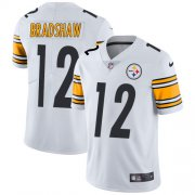 Wholesale Cheap Nike Steelers #12 Terry Bradshaw White Youth Stitched NFL Vapor Untouchable Limited Jersey