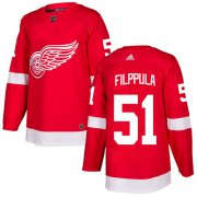 Wholesale Cheap Adidas Red Wings #51 Valtteri Filppula Red Home Authentic Stitched NHL Jersey