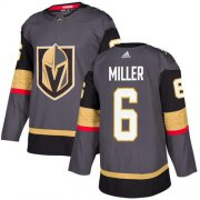 Wholesale Cheap Adidas Golden Knights #6 Colin Miller Grey Home Authentic Stitched NHL Jersey