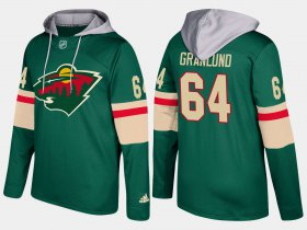 Wholesale Cheap Wild #64 Mikael Granlund Green Name And Number Hoodie