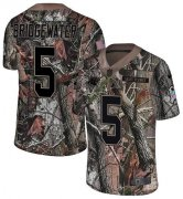 Wholesale Cheap Nike Panthers #5 Teddy Bridgewater Camo Men's Stitched NFL Limited Rush Realtree Jersey