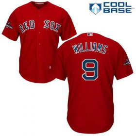 Wholesale Cheap Red Sox #9 Ted Williams Red New Cool Base 2018 World Series Stitched MLB Jersey