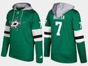 Wholesale Cheap Stars #7 Neal Broten Green Name And Number Hoodie