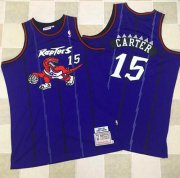 Wholesale Cheap Mitchell And Ness Toronto Raptors #15 Vince Carter Purple Throwback Stitched NBA Jersey