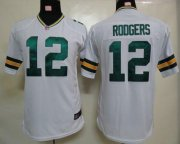 Wholesale Cheap Nike Packers #12 Aaron Rodgers White Youth Stitched NFL Elite Jersey