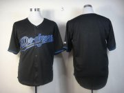 Wholesale Cheap Dodgers Blank Black Fashion Stitched MLB Jersey