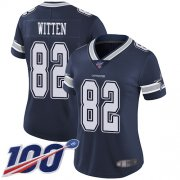 Wholesale Cheap Nike Cowboys #82 Jason Witten Navy Blue Team Color Women's Stitched NFL 100th Season Vapor Limited Jersey