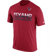 Wholesale Cheap Men's Houston Texans Nike Practice Legend Performance T-Shirt Red