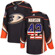 Wholesale Cheap Adidas Ducks #42 Josh Manson Black Home Authentic USA Flag Stitched NHL Jersey