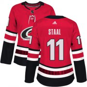 Wholesale Cheap Adidas Hurricanes #11 Jordan Staal Red Home Authentic Women's Stitched NHL Jersey