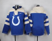 Wholesale Cheap Nike Colts Blank Royal Blue Player Pullover NFL Hoodie