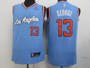 Wholesale Cheap Clippers 13 Paul George Light Blue Nike Swingman Jersey