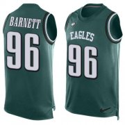 Wholesale Cheap Nike Eagles #96 Derek Barnett Midnight Green Team Color Men's Stitched NFL Limited Tank Top Jersey