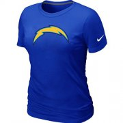 Wholesale Cheap Women's Nike Los Angeles Chargers Logo NFL T-Shirt Blue