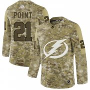 Wholesale Cheap Adidas Lightning #21 Brayden Point Camo Authentic Stitched NHL Jersey