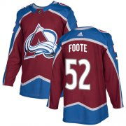 Wholesale Cheap Adidas Avalanche #52 Adam Foote Burgundy Home Authentic Stitched NHL Jersey