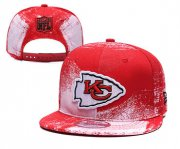 Wholesale Cheap Chiefs Team Logo Red White Adjustable Hat YD