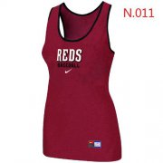 Wholesale Cheap Women's Nike Cincinnati Reds Tri-Blend Racerback Stretch Tank Top Red