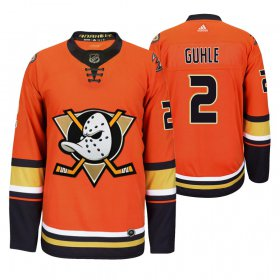 Wholesale Cheap Anaheim Ducks #2 Brendan Guhle Men\'s 2019-20 Third Orange Alternate Stitched NHL Jersey