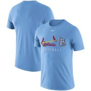 Wholesale Cheap St. Louis Cardinals Nike MLB Practice T-Shirt Blue