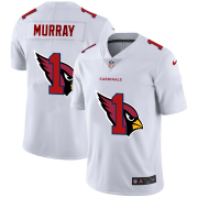 Wholesale Cheap Arizona Cardinals #1 Kyler Murray White Men's Nike Team Logo Dual Overlap Limited NFL Jersey